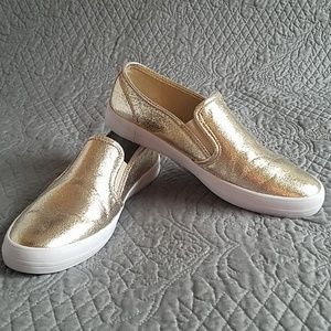 G by Guess Metallic Gold Slip-on Sneakers